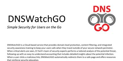 OTech - DNSWatchGO - Cloud-based Service That Provides Domain-level Protection