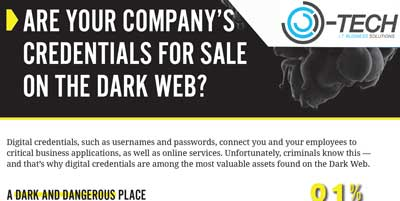 OTech - Dark Web Monitoring - Are Your Company's Credentials For Sale On The Dark Web?