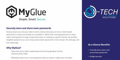 OTech - MyGlue Password Management – Securely Store And Share Team Passwords